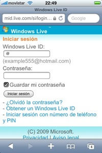 hotmail-iphone-interface