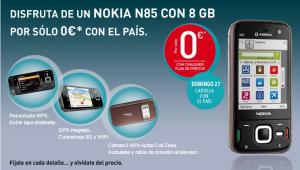 Nokia N85 por 0€ con el País