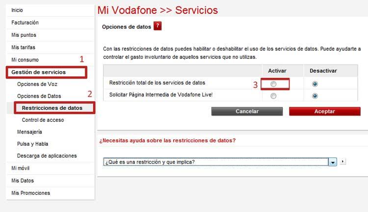 restricción-datos-intenet-vodafone