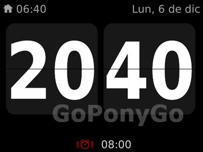 Aplicación reloj de Blackberry