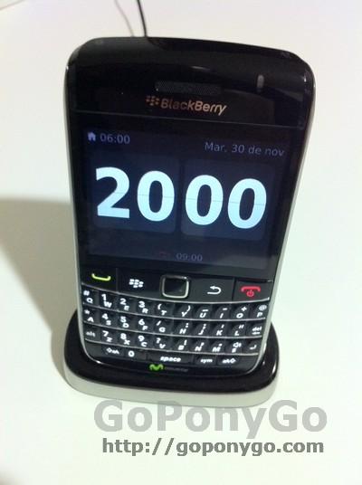 Blackberry reloj de cabecera