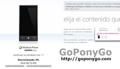 Sincronizar Windows Phone con Zune