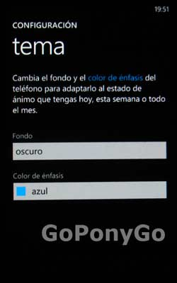 Temas en Windows Phone