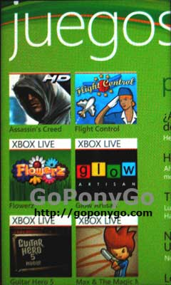 Xbox LIVE en Windows Phone