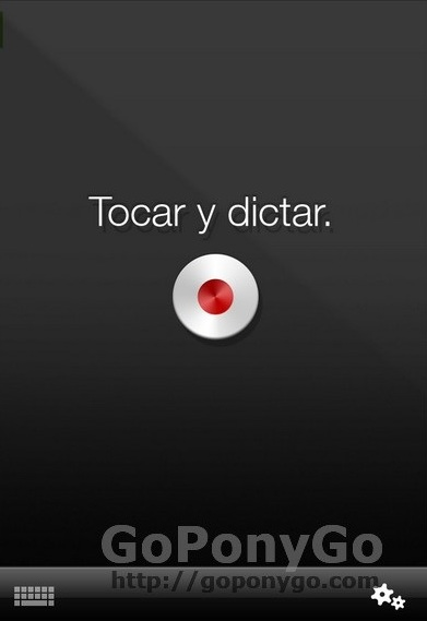 Dictado en iPhone con Dragon Dictation