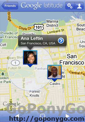 Google Latitude para iPhone