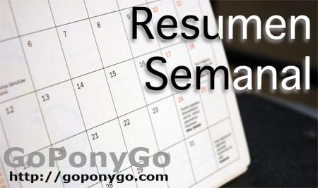Resumen semanal de noticias en Goponygo