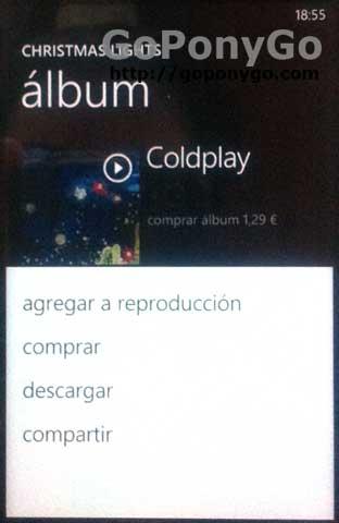 Descargar con Zune Pass desde Windows Phone