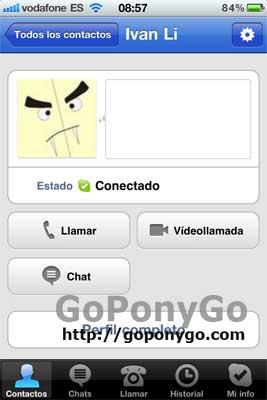 Videollamada en el iPhone con Skype