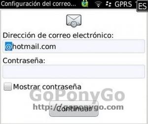 Configuración correo Blackberry