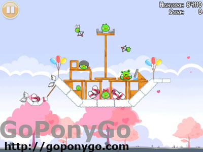 Screen Angry Birds edición San Valentin