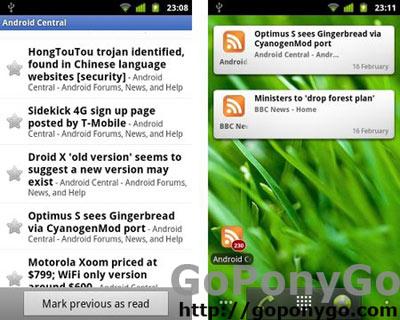 Google Reader versión 0.9.2