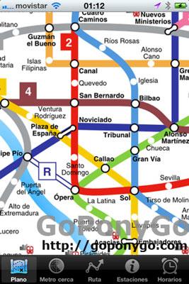Aplicación Metro Madrid para iPhone