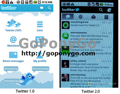 Comparativa Twitter 1.0 y Twitter 2.0