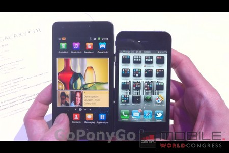 samsung gaaxy s2 vs iphone 4