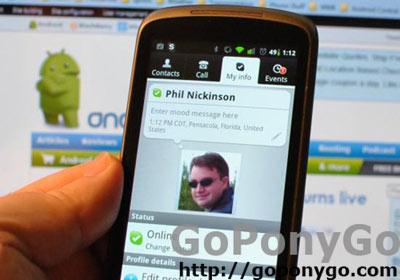 Skype en Android foto