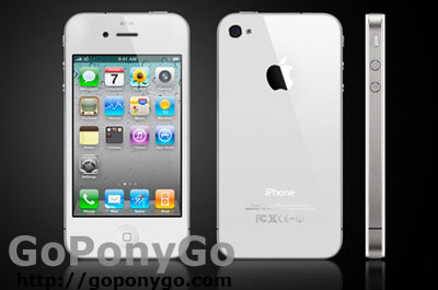 iPhone 4 blanco foto