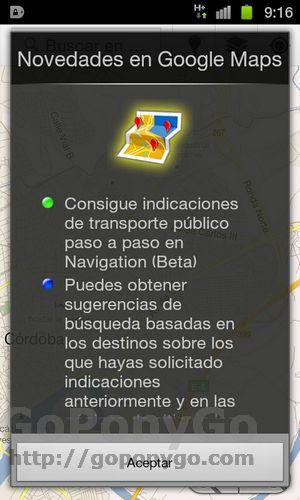 1Google maps se actualiza