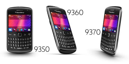 Blackberry Curve 9350, 9360, 9370 con Blackberry OS 7