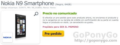El Nokia N9 Con MeeGo ya se puede reservar en España