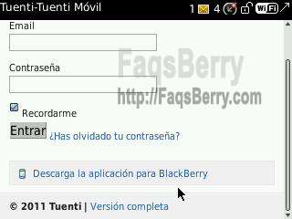 blackberry tuenti 2