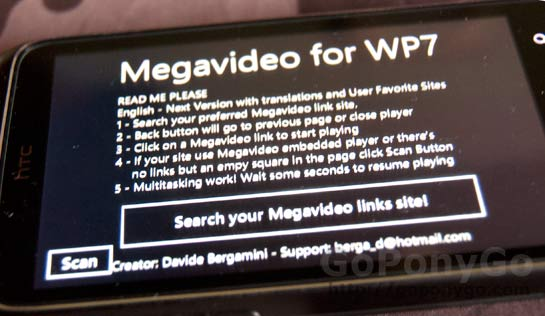 Cómo ver vídeos de Megavideo en Windows Phone 7