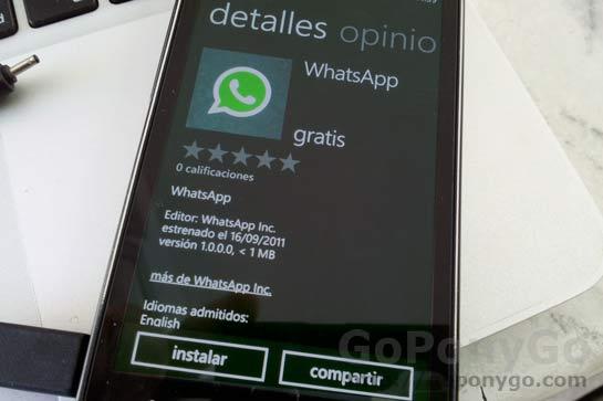 Whatsapp Messenger para Windows Phone 7 a punto para descargar