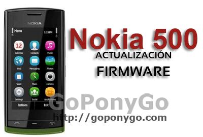 NOKIA-500-ACTUALIZACIÓN-FIRMWARE