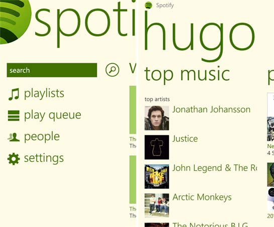 La aplicación de Spotify para Windows Phone 7 casi a punto