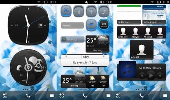 Nuevos Widgets para Nokia Belle en Nokia N8, Nokia C7, Nokia C6-01…