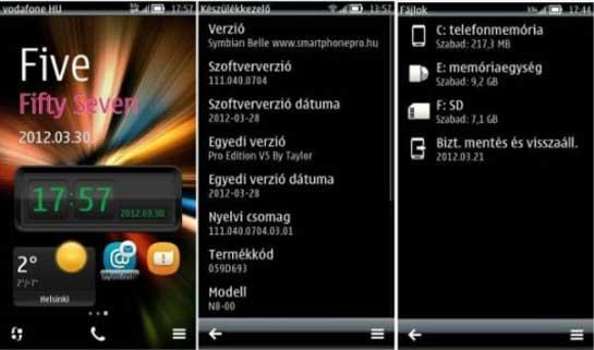 Firmware modificado para el Nokia N8 con la versión v111.040.0704