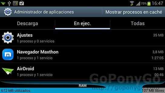 Cómo cerrar aplicaciones y procesos en uso dentro de Android