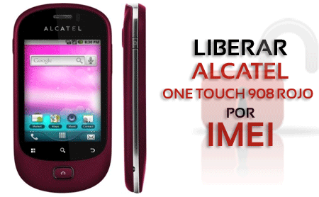 Liberar Alcatel One Touch 908 Rojo por IMEI