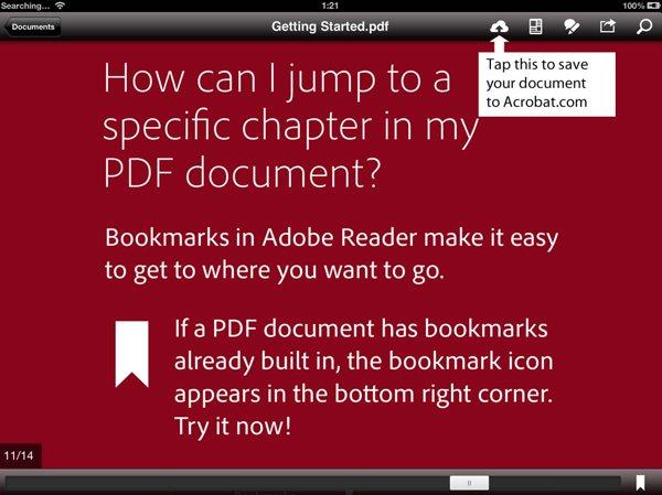 Adobe Reader en iOS y Android: ahora con alojamiento en la nube