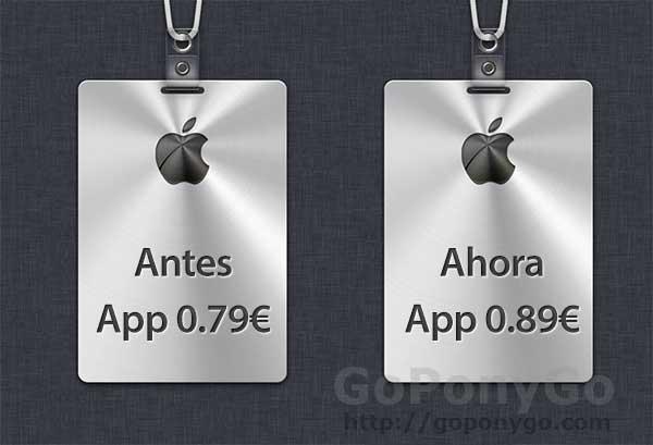 Subida de precio de las Aplicaciones iPhone