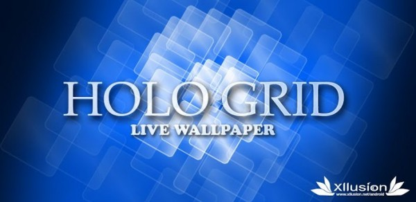 Holo Grid Live Wallpaper Banner 600