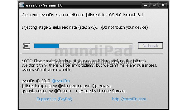 Jailbreak en iOS6 con evasi0n