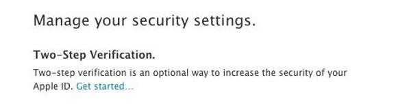 habilitar la verificación en dos pasos de nuestro ID de Apple