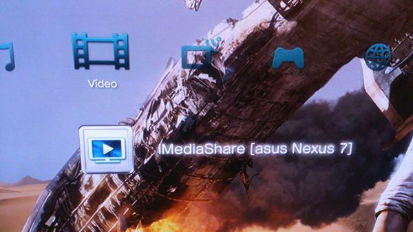 iMediaShare conectar Nexus 7