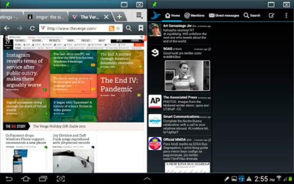 Multiventana como en Galaxy Note 2 con varias cuentas a la vez