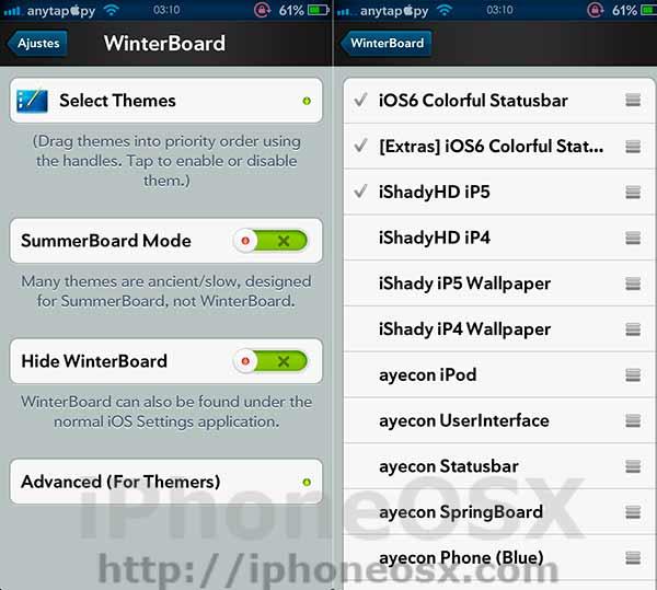 Los mejores tweaks de Cydia en iOS 6