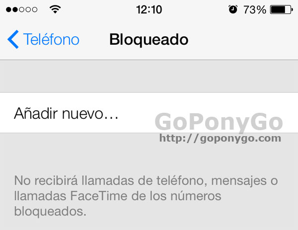 Bloqueo en iOS 7