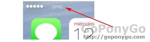 GPRS en iOS 7
