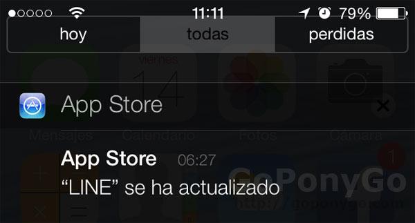 Actualizaciones en iOS 7