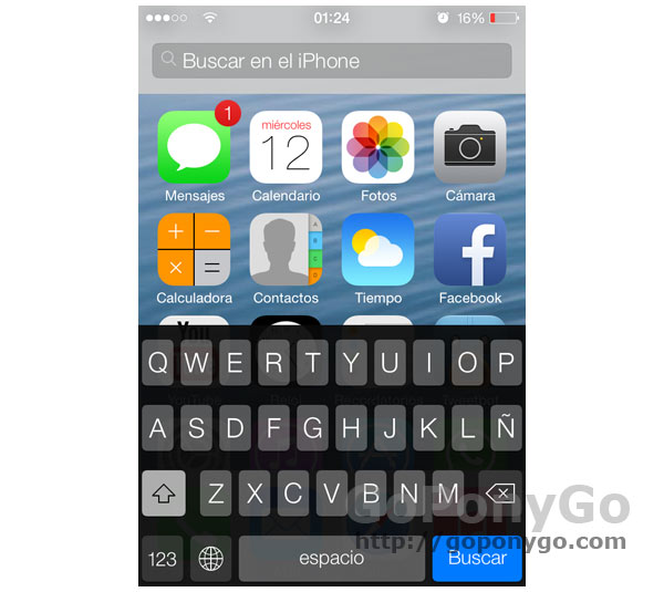 Spotlight en iOS 7
